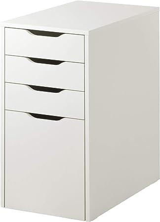 ikea 103 730 37 alex tiroir rangement pour dossiers suspendus blanc