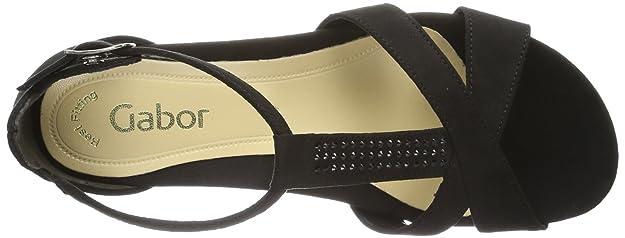 Gabor Shoes Gabor 85.520.17 Damen Sandalen, Schwarz (schwarz