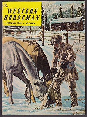 (WESTERN HORSEMAN Postal Horses Iron Snowshoes Will Rogers Jim Bridger + 2 1963)