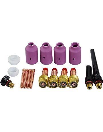 TIG lente de gas Coronilla Cuerpo boquillas de cerámica Tapa trasera Kit Ajuste DB SR WP17