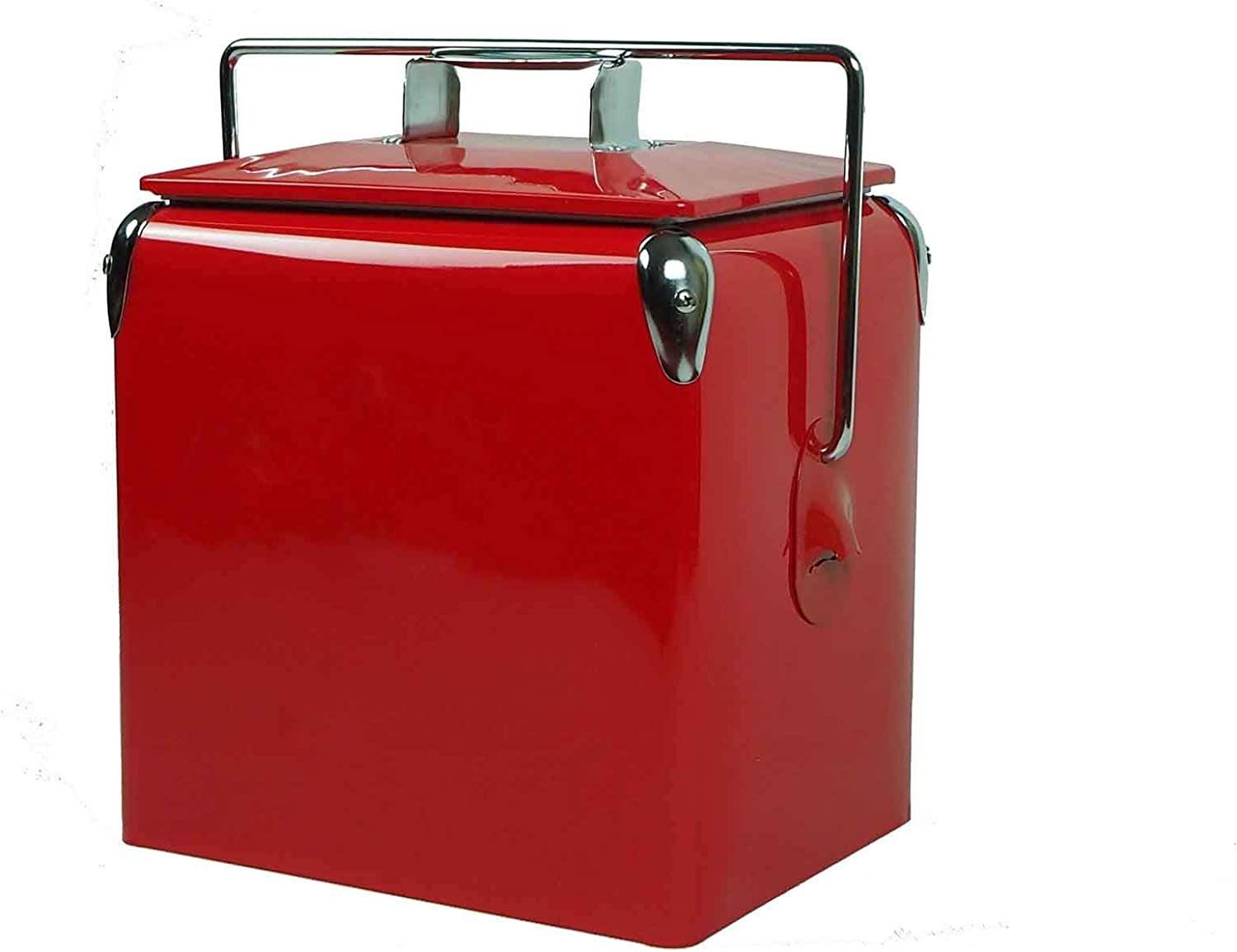 Portable Cooler 13L Capacity Keeps Ice up to 7 Days Ice Chest Ideal Heavy Duty Coolers for Camping, Hiking, Picnic, BBQs, Fishing, Traveling, Tailgating Outdoor Activities, Red