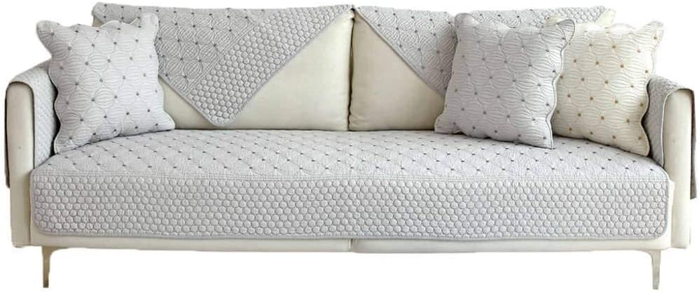 ZHFEL Reversible Funda De Sofá Universal,algodón Antideslizante Cubre Sofas Couch Funda Acolchado Muebles Protector Combinación Sofá para Sala De Estar Mascotas Gato Perro-36x94-E: Amazon.es: Hogar