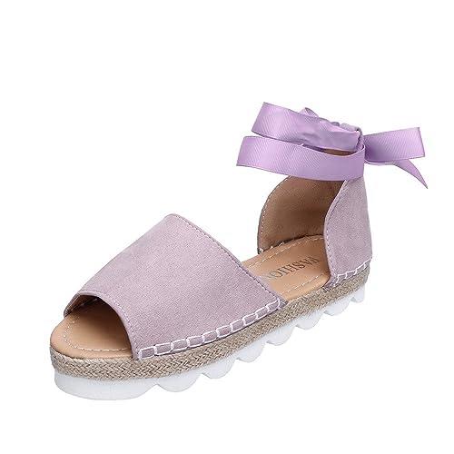 80087d990484f Sandalias mujer verano btruely zapatos de plataforma plana zapatos jpg  500x500 Zapatos de plataforma plana