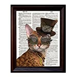 Fresh Prints of CT Dictionary Art Print - Steampunk Clockwork Kitty Cat - Printed on Recycled Vintage Dictionary Paper… 6