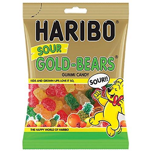 Haribo Sour Gold-bears Gummi Gummy Candy 4.5 Oz Bag