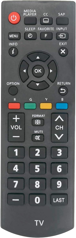 New N2QAYB000820 Replace Remote Control fit for Panasonic Viera LCD LED Plasma TV TC-32A400U TC-39A400U TC-40A420U TC-50A400U TH-50LRU60 TC-L32B6X Tc-l39b6x Tc-32b6p Tc-l39b6p TC-32LB64 TC-L39B6