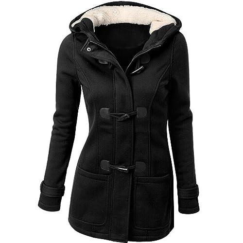 OverDose Forme a mujeres rompevientos prendas de vestir exteriores de lana delgada caliente larga capa chaqueta del foso