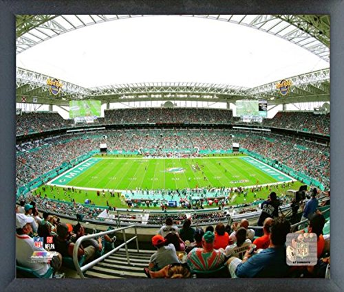 Miami Dolphins Framed Wall - Hard Rock Stadium Miami Dolphins Photo (Size: 12