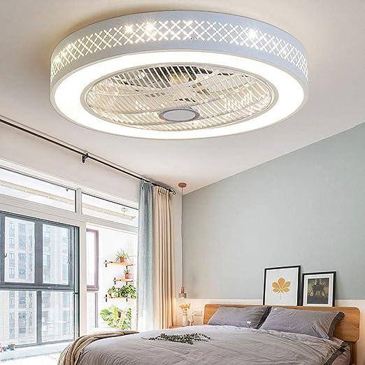 Invisible Ventilador Techo Luz Techo LED Silencioso Ventilador ...