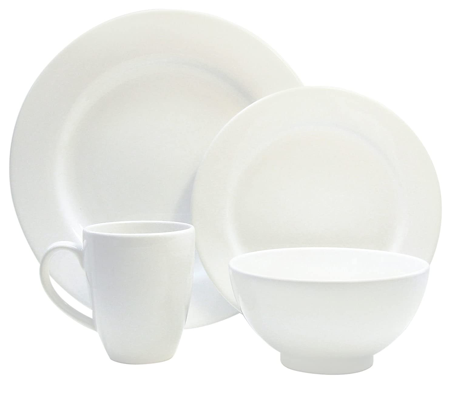 Amazon.com | Waechtersbach Fun Factory II White 16-Piece Dinnerware Set Service for 4 White Dishes Dinnerware Sets  sc 1 st  Amazon.com & Amazon.com | Waechtersbach Fun Factory II White 16-Piece Dinnerware ...