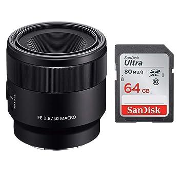 Sony sel50 m28 FE 50 mm F2.8 Full Frame lente con montura ...