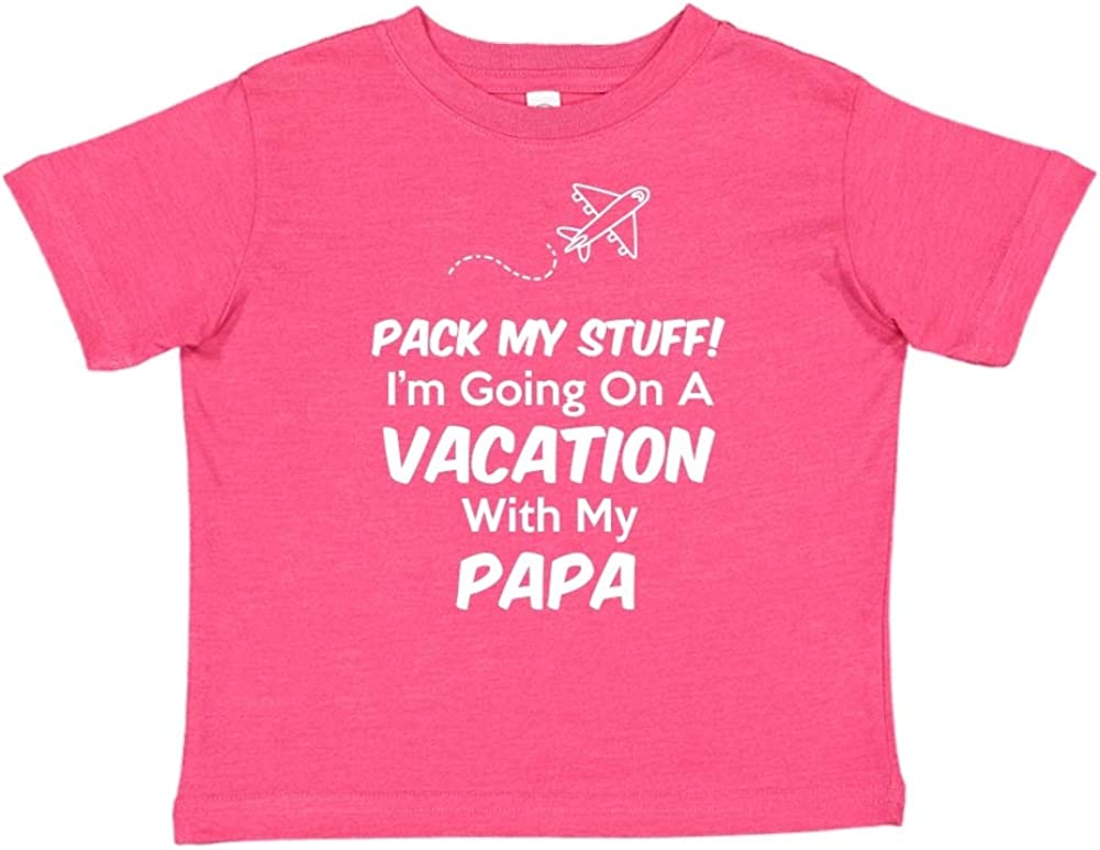 Pack My Stuff Toddler//Kids Short Sleeve T-Shirt Im Going On Vacation with My Papa