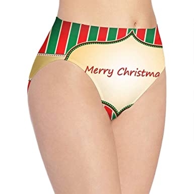 be2adf187 Twinkprint Women s Underwear Soft Panties Old Fashioned Merry Christmas  Sexy Underpants White