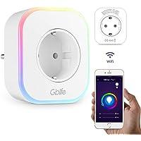 Presa Intelligente WiFi con USB, GBlife Smart Wifi Plug, Controllo Remoto/Controllo Vocale, con Interruttore e Timer, LED RGB, Compatibile con Google Home/Amazon Alexa/IFTTT / iOS/Android