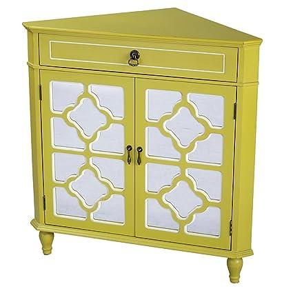 Amazon Heather Ann Creations Modern 2 Door Corner Cabinet With