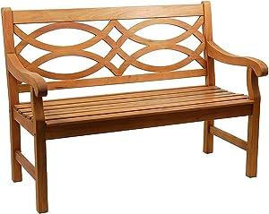 Achla Designs 4-Foot Hennell Garden Bench, Natural