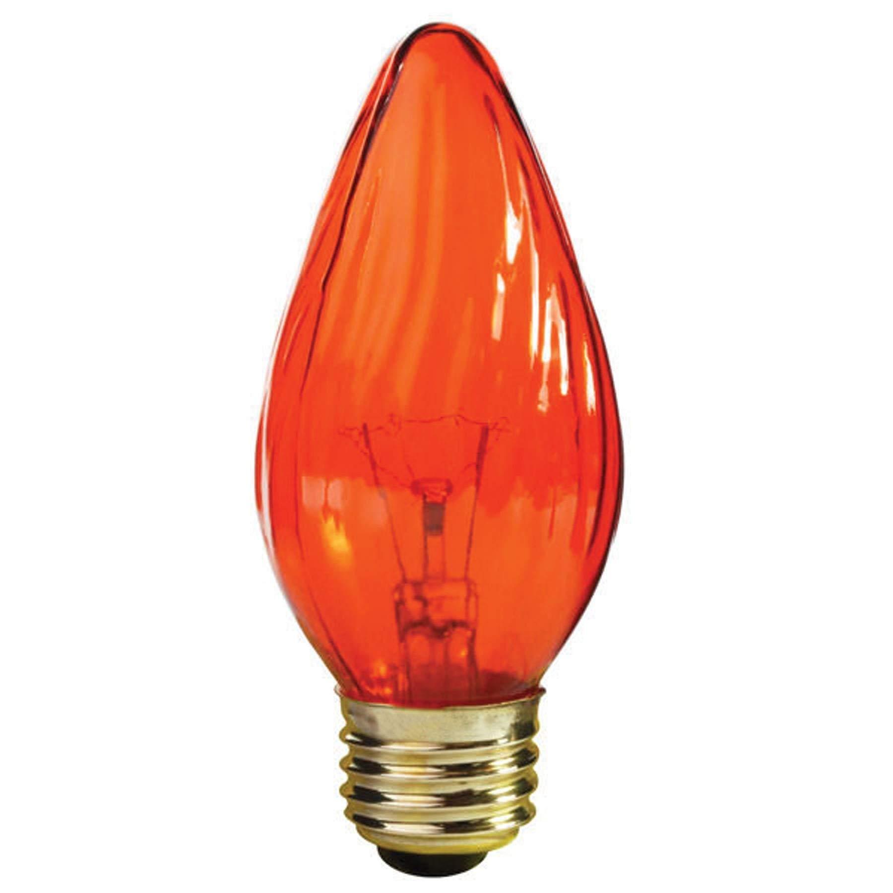 Satco 25F15/A Incandescent Decorative Light, 25W E26 F15, Amber Bulb [Pack of 24]
