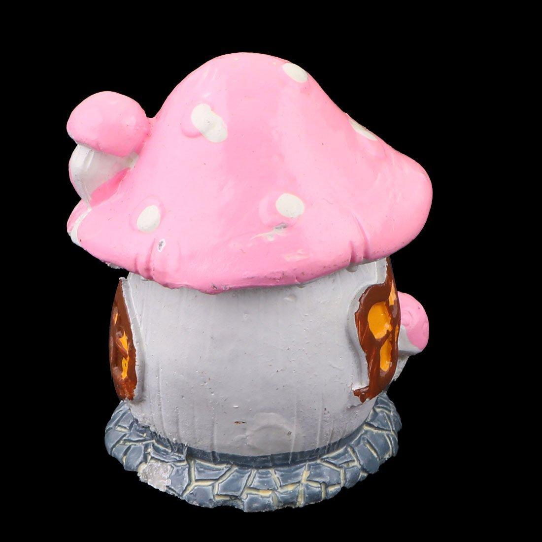 Amazon.com: eDealMax hogar de la resina de escritorio de oficina Decoración Artificial Artesanía Casa de la seta Modelo rosa Bonsai: Home & Kitchen