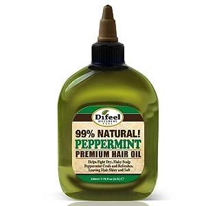 Difeel Premium Natural Hair Oil - Peppermint Oil 8 ounce