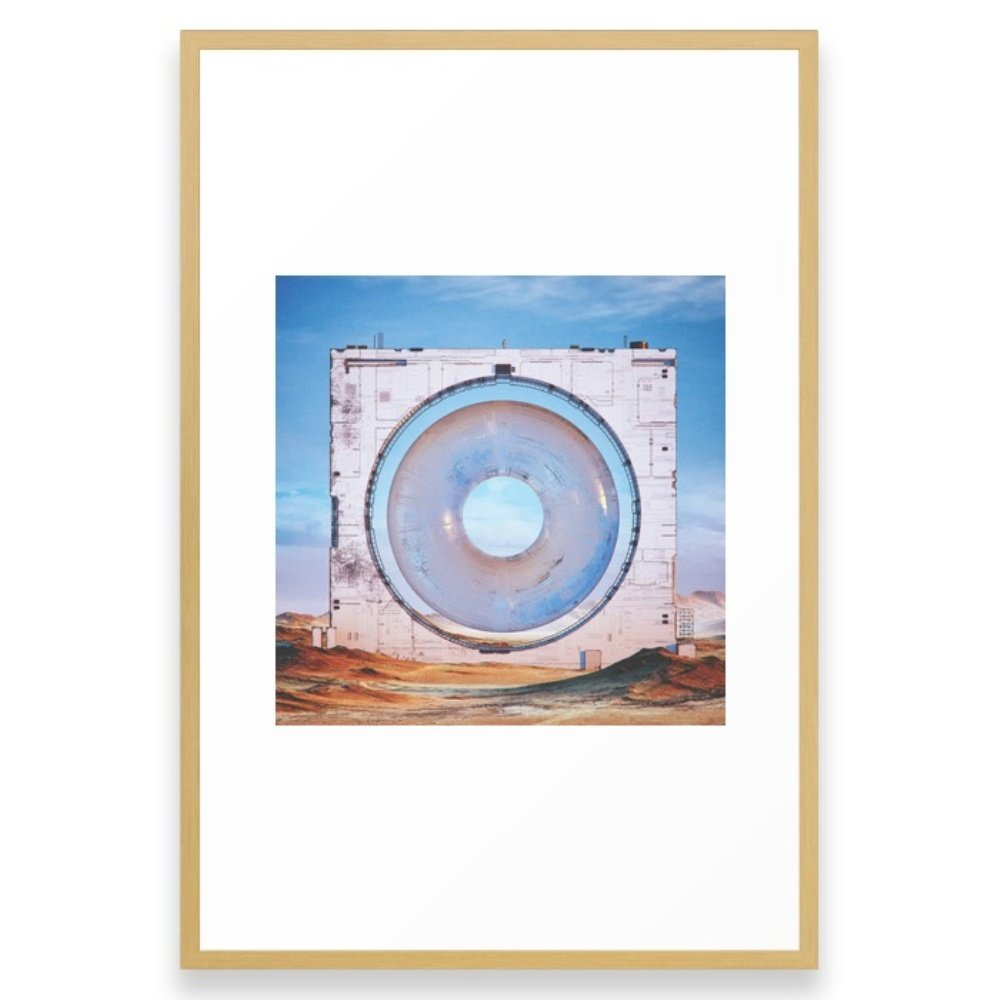 Society6 OOO.OOO (everyday 04.10.16) Framed Print Conservation Natural LARGE (Gallery)