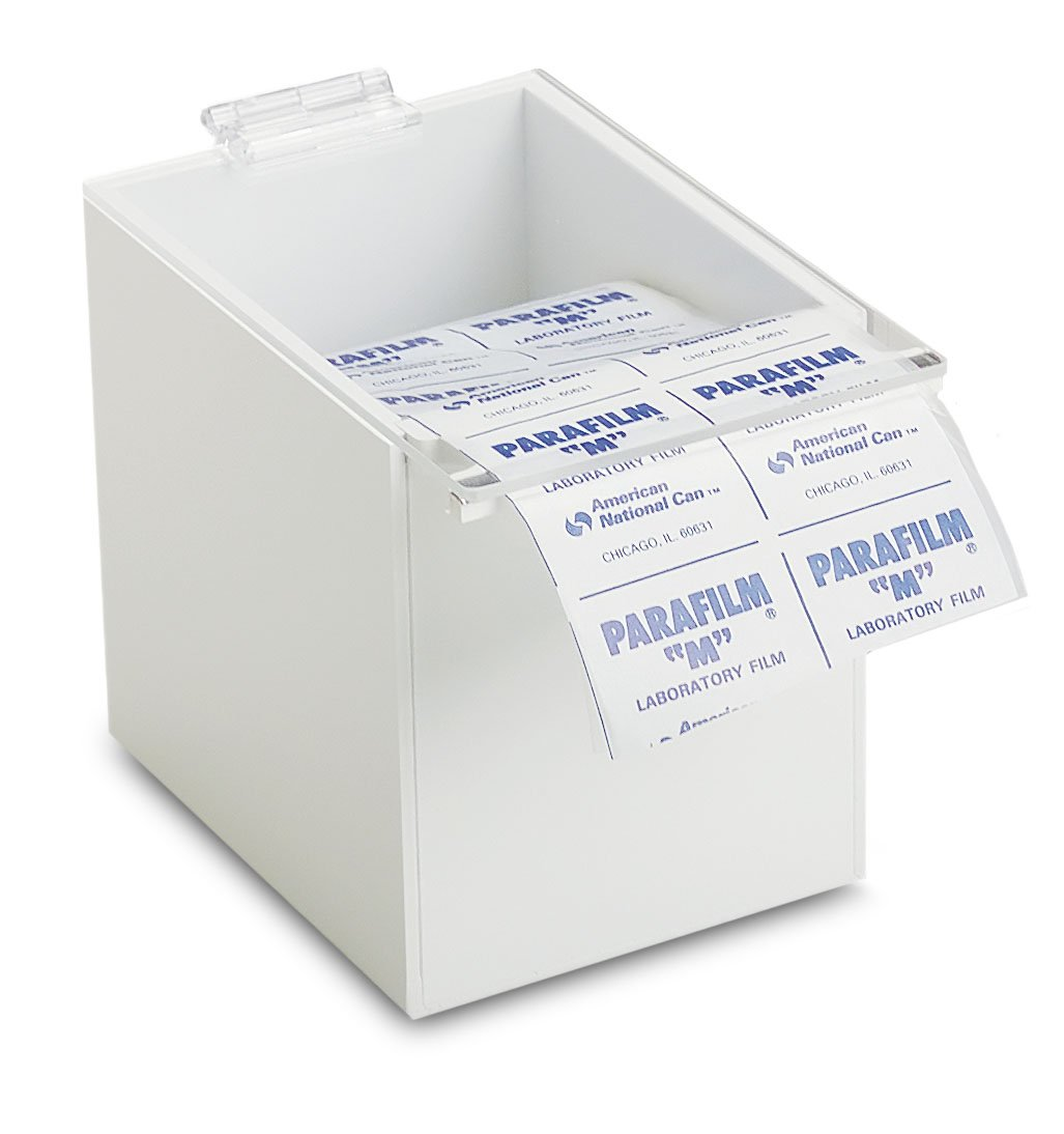 TrippNT 50206 White//Clear Lid PVC//Acrylic Parafilm Dispenser Small 5 Width x 6 Height x 8 Depth