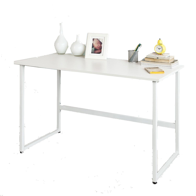 SoBuy® FWT13-W Bureau informatique - Plan de travail - Table pour ordinateur - cadre mÉtal