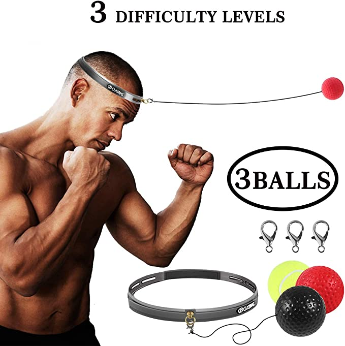 HOT!! Magic Hand Eye Training Set Boxing Reflex Ball Raising Reaction Force qw4