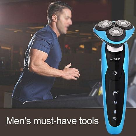 Afeitadora eléctrica para hombres máquina de afeitar giratoria ...