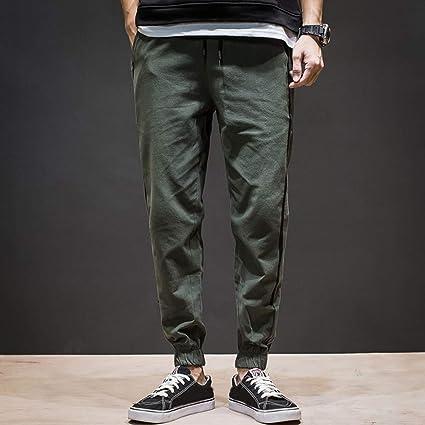 5ba25865e6 Amazon.com: Men Sport Pants Long Casual Comfy Elastic Waist Pocket ...