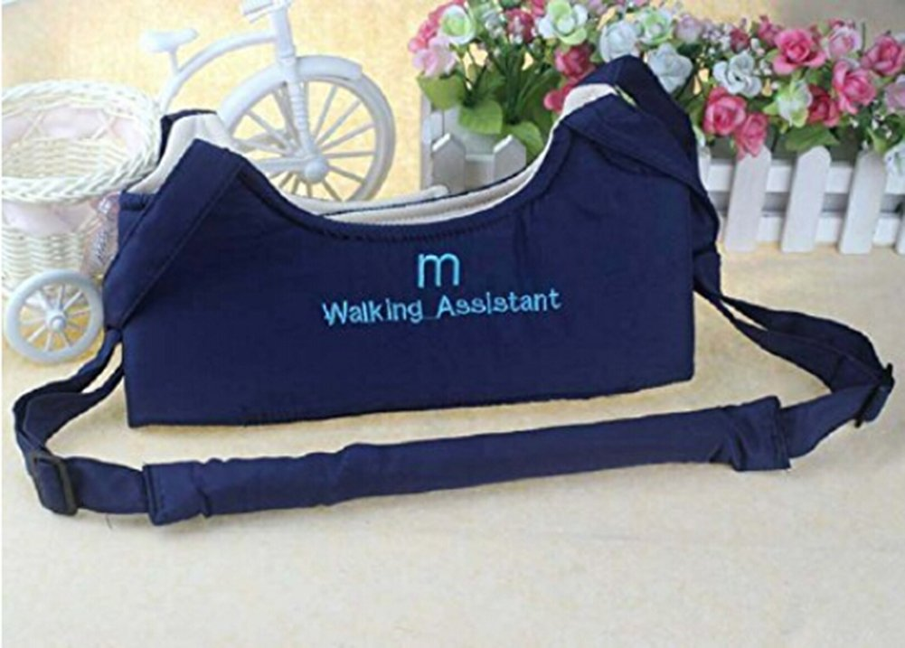 Baby Toddler Learn to Walk Walking Harness Aid Assistant Safety Rein Train Walking Protective Belt Navy blue