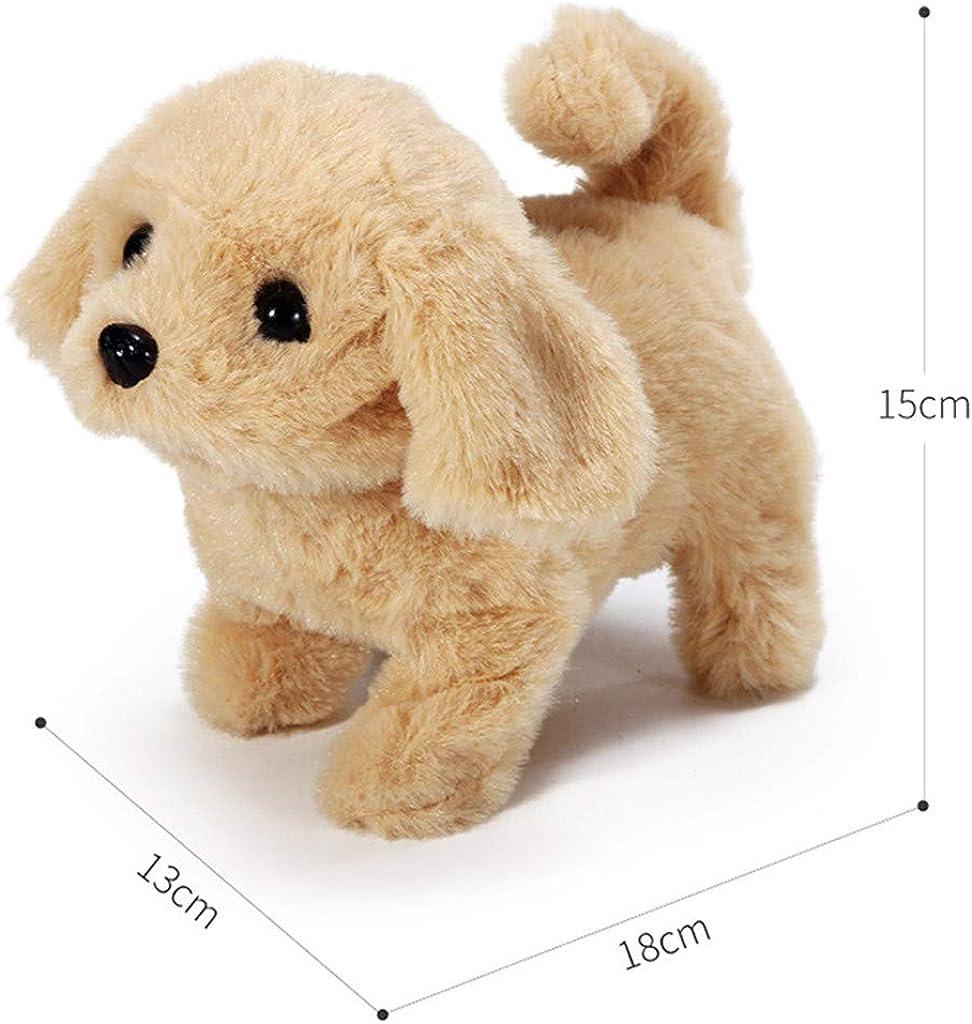 Simulation /Électrique R/éaliste Teddy Dog Lucky Peluche Jouet Intelligent pour chien appel/é Simulation de marche Puppy Animal Toys pour enfants Realistic Teddy Dog Lucky