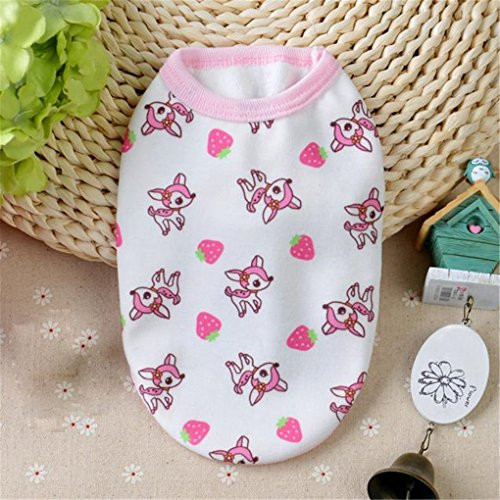 Image of haoricu Puppy Clothes, Autumn Cotton Coat Chiens Dog Pajamas Pet Clothes Clothing Small Puppy Custome (XS, Pink)