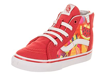 6ca4d3c7dd7 Vans Toddlers Sk8-Hi Zip (Glitter Fruits) Hibiscus Skate Shoe 5 Infants US