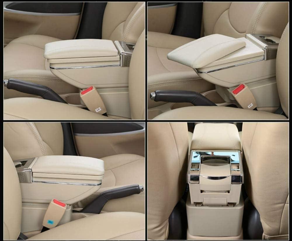 YuChen Car Armrest Box Center Console Rotatable Single Layer Black Arm Rest Storage Box With Cup Holder For Honda Cr-Z Crz Cr Z Armrests Color : BLack