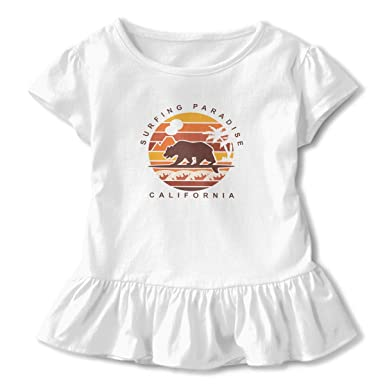 Feels in White-1 Baby Girls Short Sleeve Peplum Tee