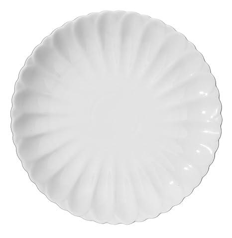 DOWAN 4 Packs 11-1/2 Inch Porcelain Dinner Plates White  sc 1 st  Amazon.com & Amazon.com | DOWAN 4 Packs 11-1/2 Inch Porcelain Dinner Plates ...
