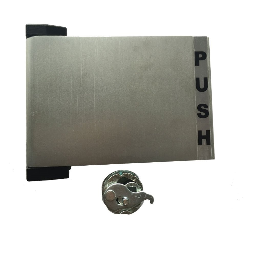 Grip Tight Tools Reversible Push-Pull Narrow Stile Paddle Handle, Aluminum Anodized Finish (Push to Left)