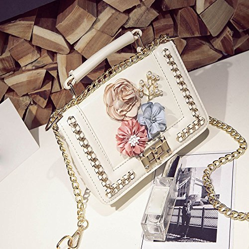 Donne Rose Ricamo ✿✿yesmile bianco Borse Da In A Donna Elegante bianco Borsa Spalla Crossbody Pelle Shopper Tracolla Similpelle wtI46axCq