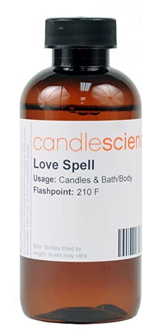 Amazon.com: CandleScience Love Spell Type Candle Scent, 4 oz: Arts ...