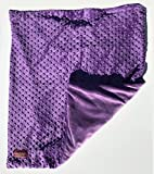 Creature Commforts Weighted Blanket - Large 12 lbs 35'' x 50'' for kids, adults - Removable cover, soft minky duvet, organic insert - Heavy sensory blanket made in USA - Violet Purple