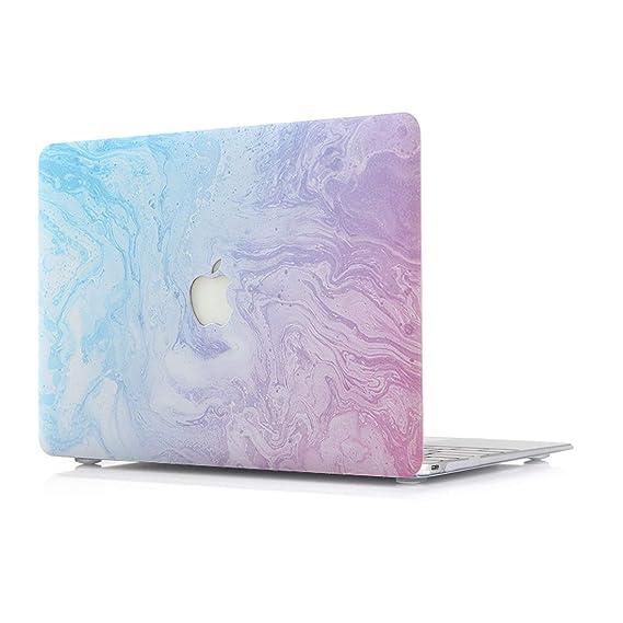 RQTX Funda MacBook Air 13 Pulgadas Modelo A1466/A1369 portátiles Accesorios de plástico Diseño de Mármol Protector Rígida Carcasa Patrones F