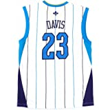 b53ef1ae2 adidas Anthony Davis Orleans Hornets NBA Men s White Official Replica Jersey