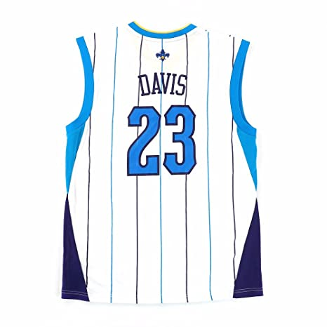 cheaper 91c04 a8718 adidas Anthony Davis New Orleans Hornets NBA Men's White Official Replica  Jersey