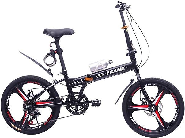FJW Bicicleta Plegable Unisex 20 Pulgadas Ruedas de 3 radios ...
