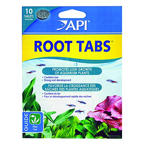 Live Fish Tank Aquarium Plant - API ROOT TABS Freshwater Aquarium Plant Fertilizer 0.4-Ounce 10-Count Box