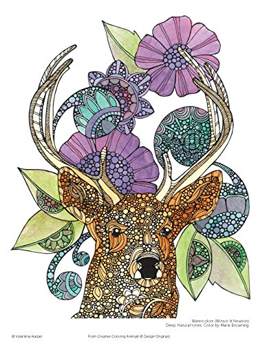 Creative Coloring Animals Art Activity Pages To Relax And Enjoy Design Originals Media Books