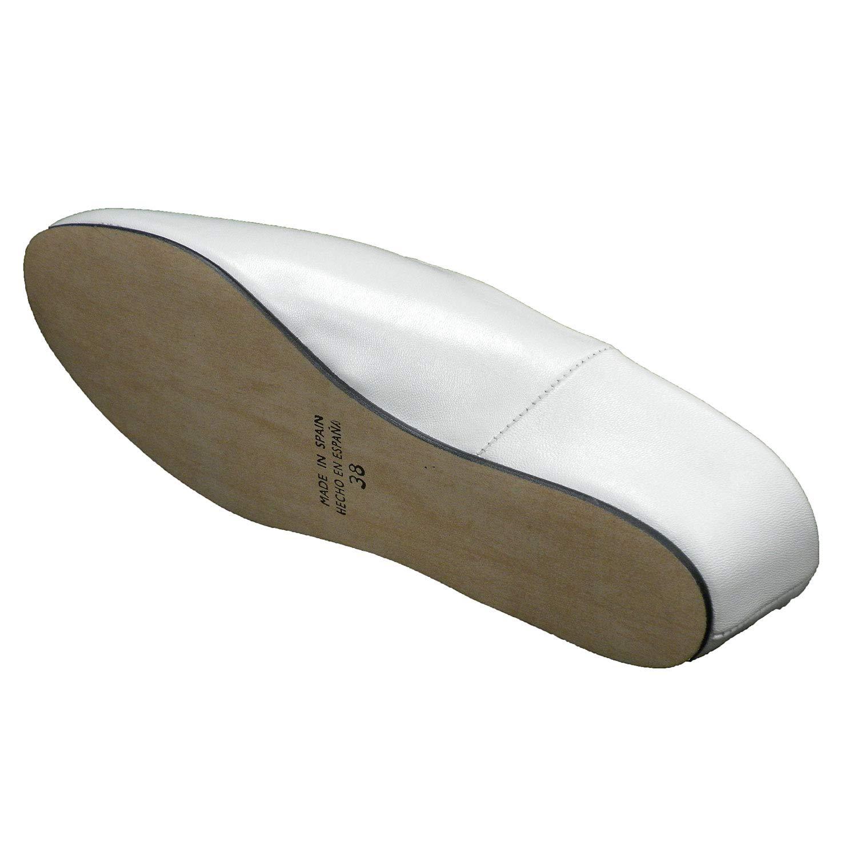 Zapatillas Mujer Piel Abierta atr/ás Estar casa DEISIDRO en Blanco