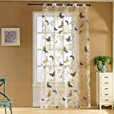 Best Norbi Curtains For Living Rooms - Norbi Butterfly Voile Tulle Room Window Sheer Panel Review