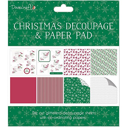 Decoupage Pad (Dovecraft Christmas Decoupage & Paper Pad - White Bear - Card or Scrapbooking Kit)