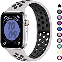 Zekapu Compatible con Apple Watch Correa 38mm 40mm 42mm 44mm, Correa Deportiva Reemplazo clásico de Silicona Suave Transpirable para iWatch Series 5/4/3/2/1, para Mujeres Hombres, S/M M/L, 12 Colores